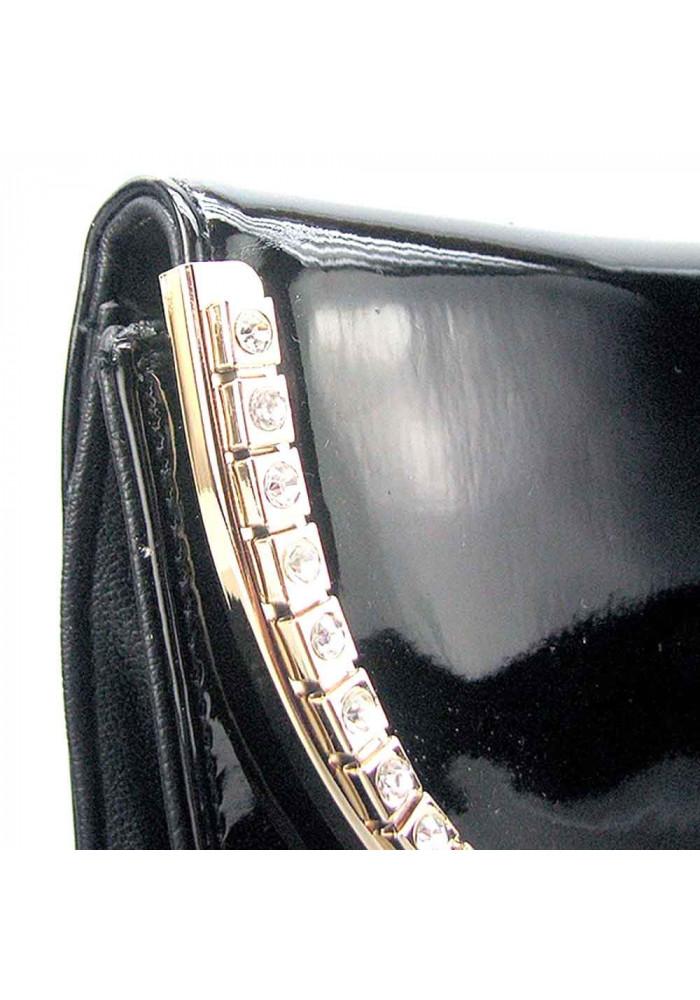 3bb7b8fbef8e ... Черный кожаный лаковый женский клатч Apploud 22498-L, фото №4 -  интернет магазин ...