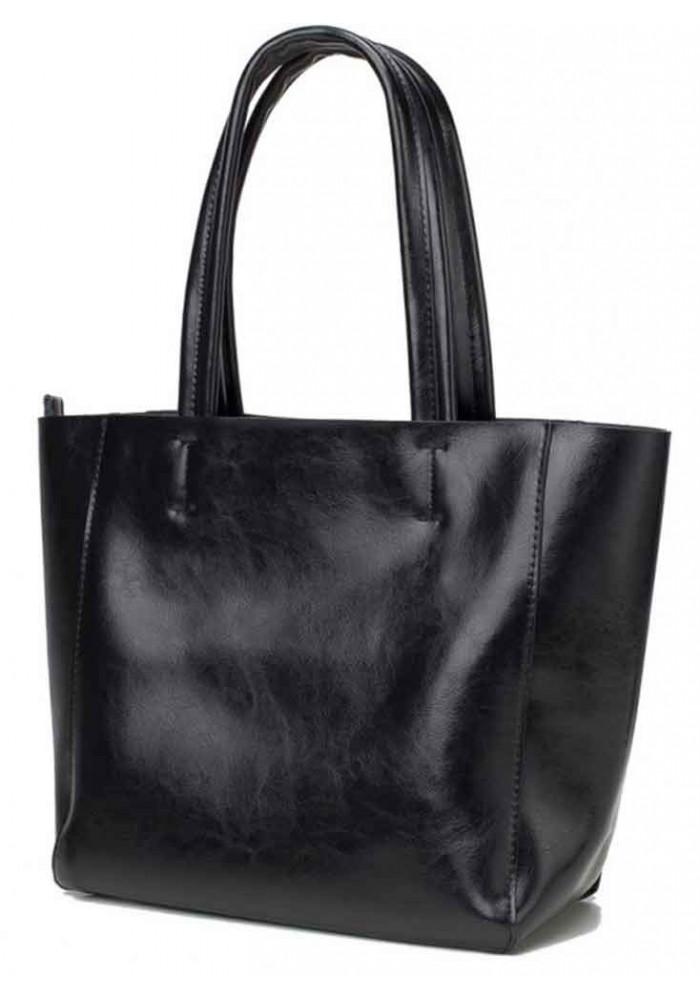 Кожаная женская сумка Grays 8865A черная