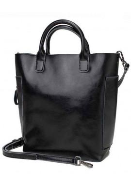 Фото Кожаная женская сумка Grays 8848A черная
