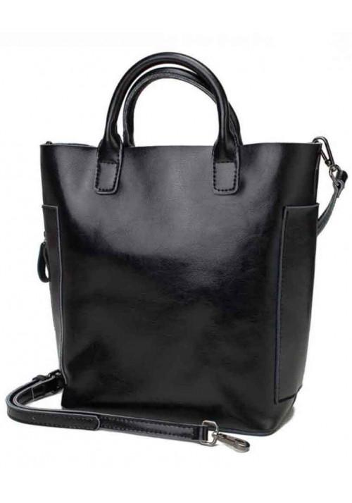 Кожаная женская сумка Grays 8848A черная