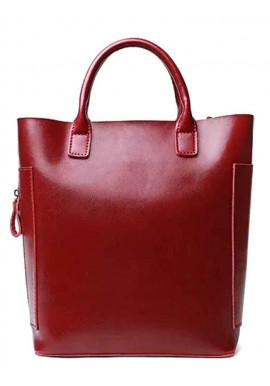 Кожаная женская сумка Grays 8848R красная