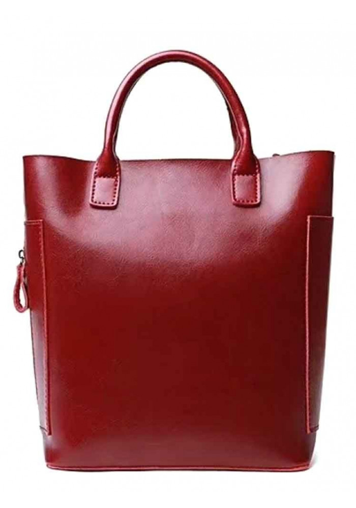 Фото Кожаная женская сумка Grays 8848R красная