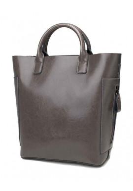 Фото Кожаная женская сумка Grays 8848G серая