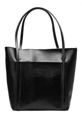 Фото Кожаная женская сумка Grays 2013A черная