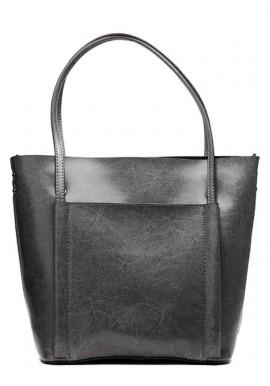 Фото Кожаная женская сумка Grays 2013G серая