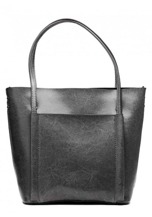 Кожаная женская сумка Grays 2013G серая