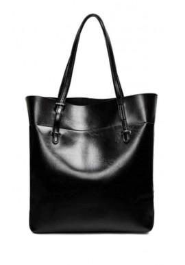 Фото Кожаная женская сумка Grays 8098A черная