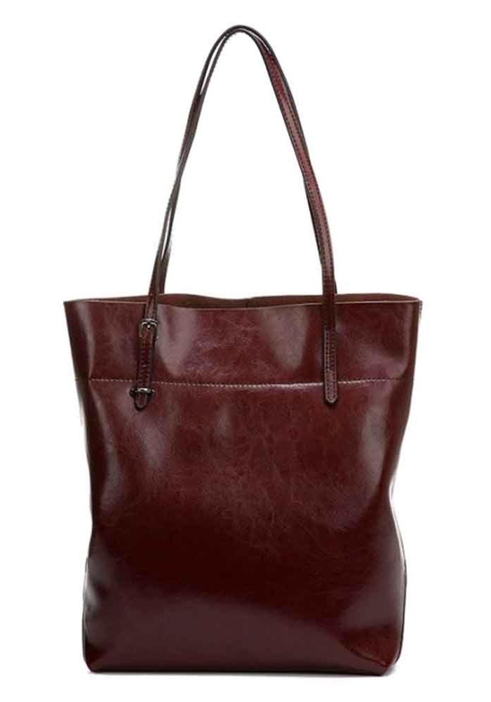 Кожаная женская сумка Grays 8098B темно-коричневая