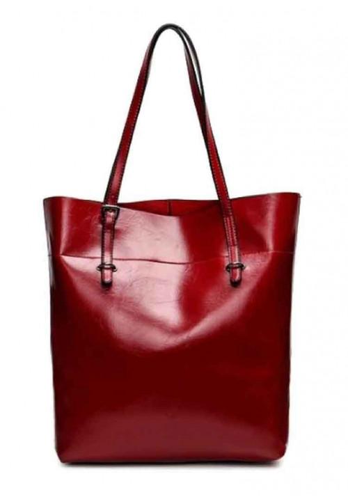 Кожаная женская сумка Grays 8098R красная