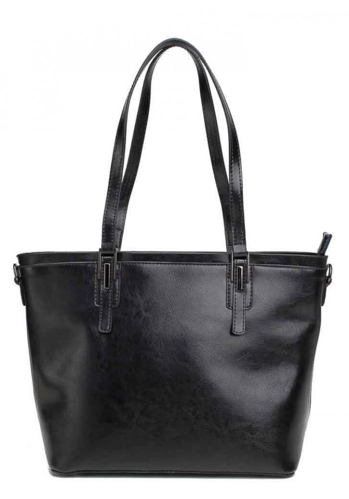 Кожаная женская сумка Grays 8853A черная