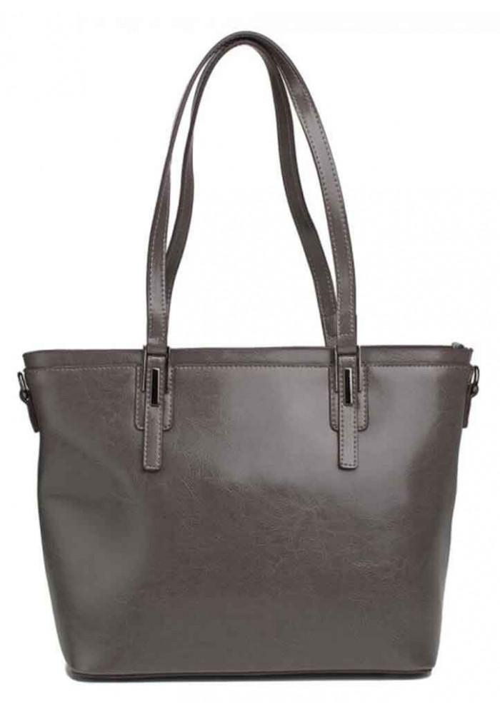 Кожаная женская сумка Grays 8853G серая