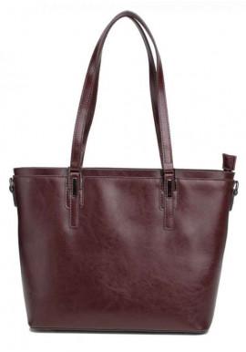 Фото Кожаная женская сумка Grays 8853B бордовая