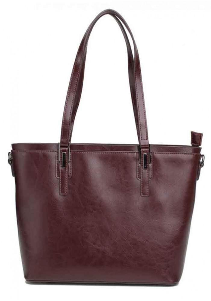 Кожаная женская сумка Grays 8853B бордовая