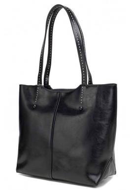 Фото Кожаная женская сумка Grays 8830A черная
