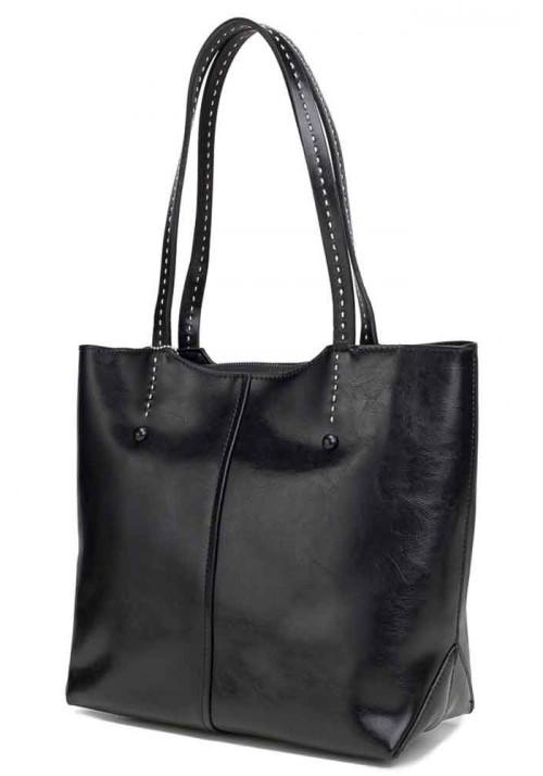 Кожаная женская сумка Grays 8830A черная