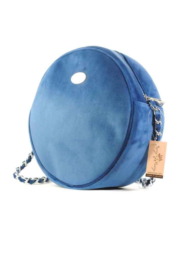 Синяя круглая женская сумка Betty Pretty