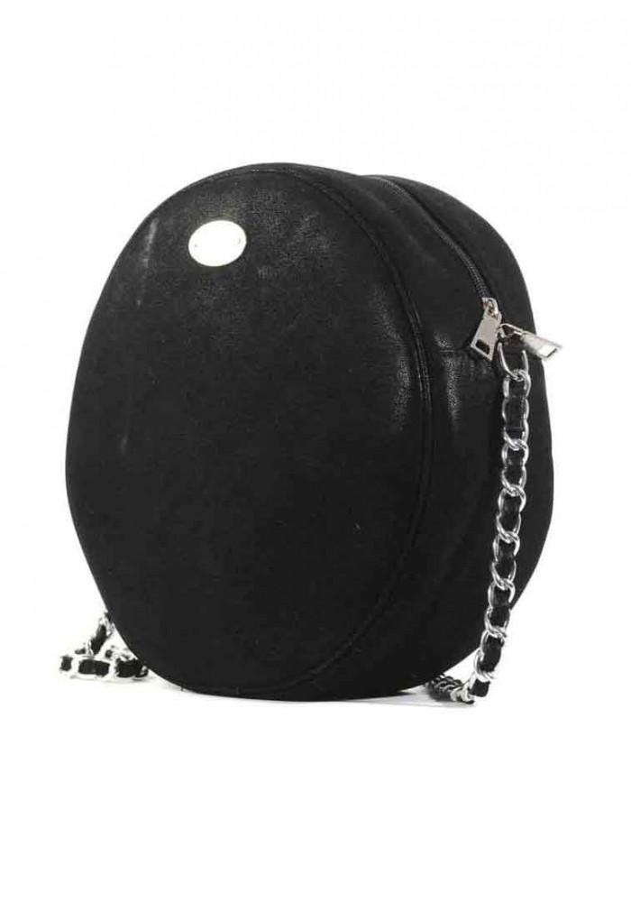 Черная круглая женская сумка Betty Pretty