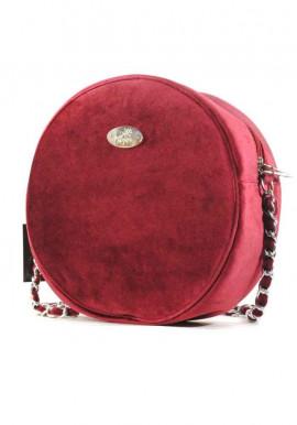 Фото Бордовая круглая женская сумка Betty Pretty