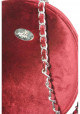Бордовая круглая женская сумка Betty Pretty