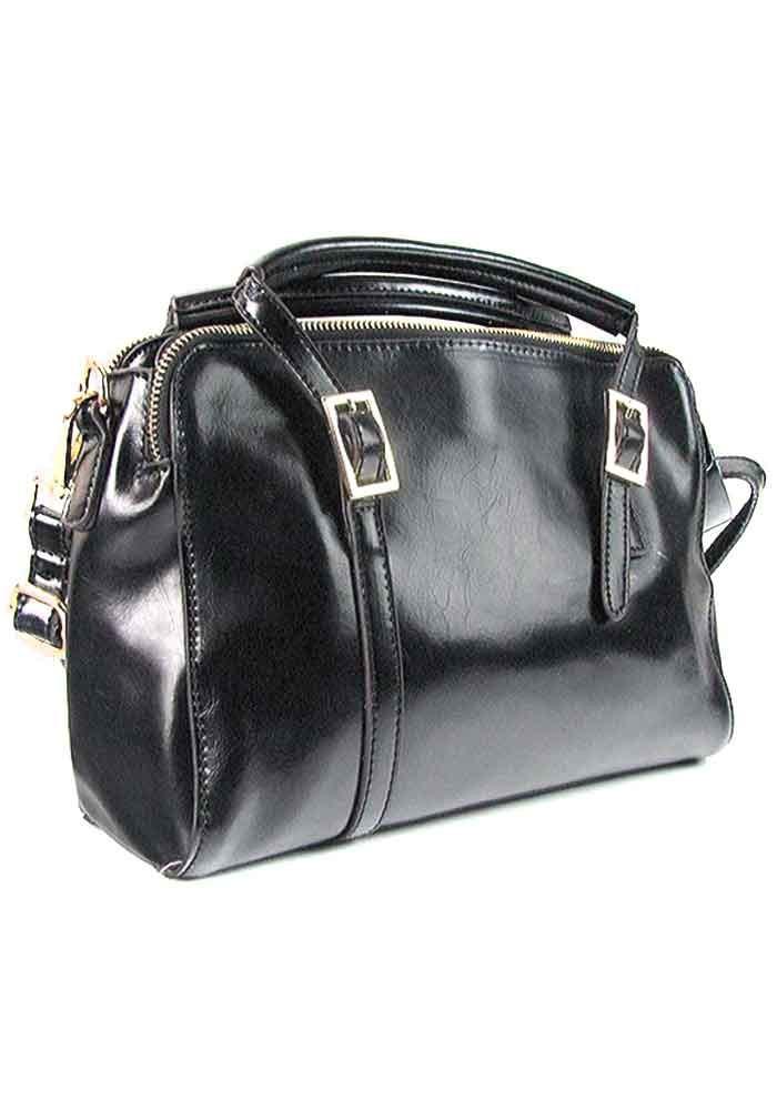 Женская кожаная сумка с тремя отделами 957
