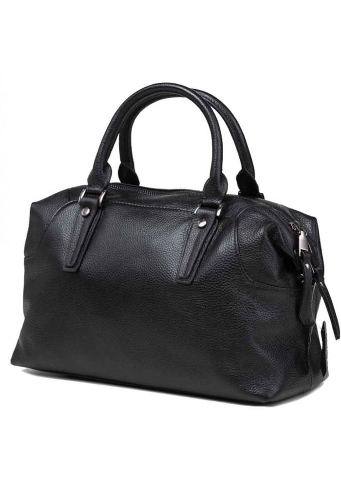Кожаная женская сумка Olivia 9106A черная
