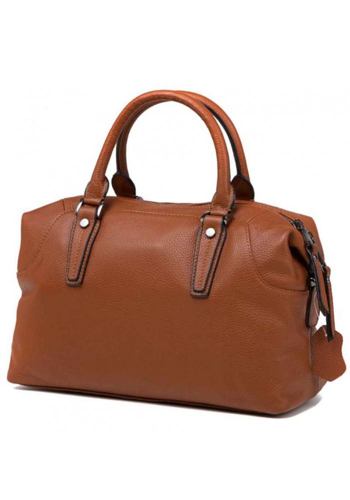 Кожаная женская сумка Olivia 9106B светло-коричневая