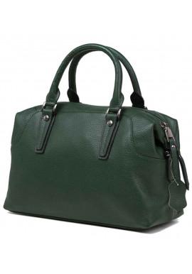 Фото Кожаная женская сумка Olivia 9106GR зеленая
