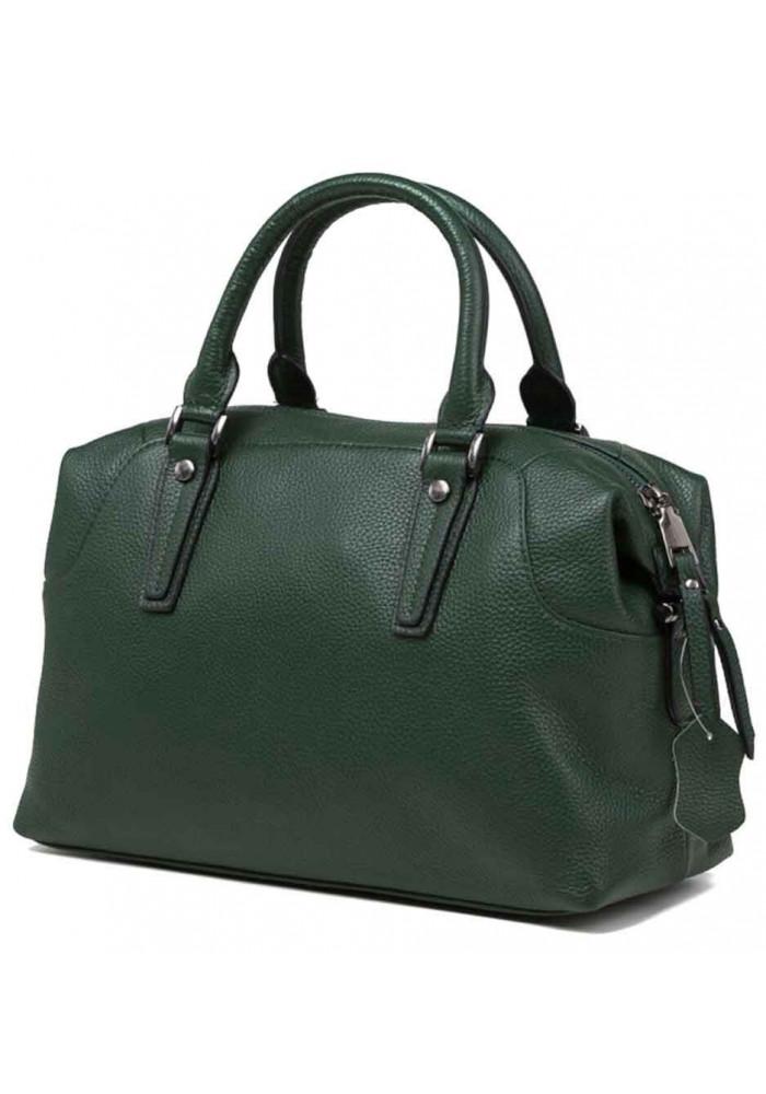 Кожаная женская сумка Olivia 9106GR зеленая