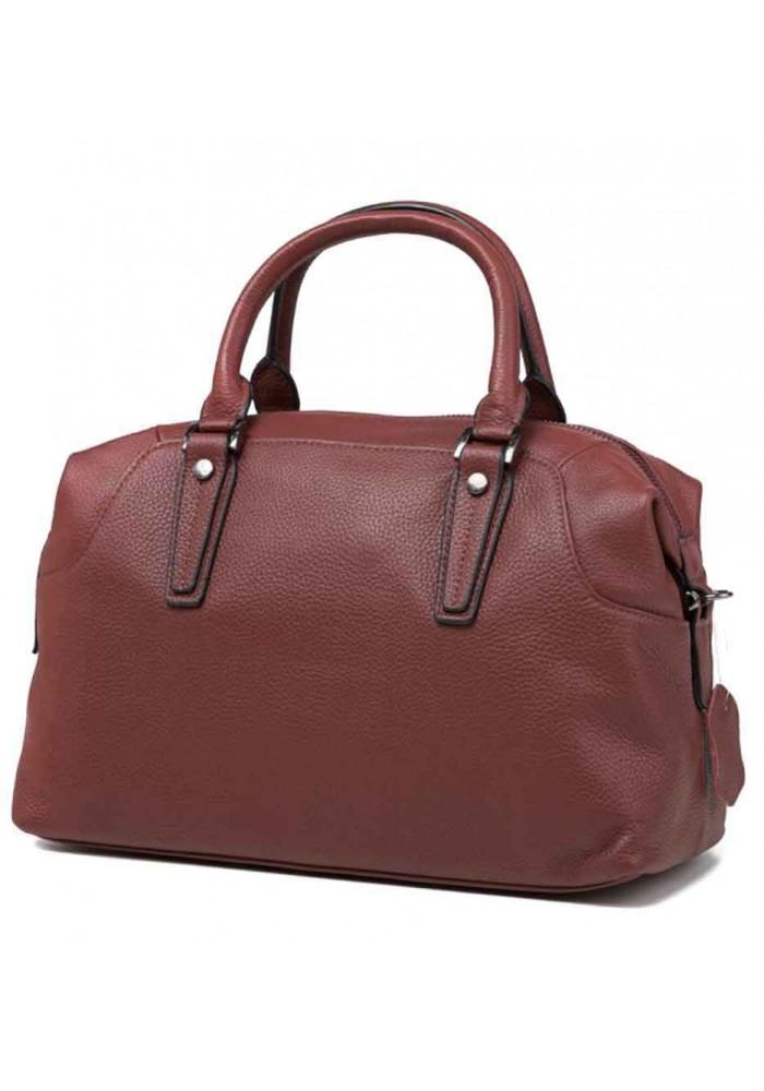 Кожаная женская сумка Olivia 9106BO бордовая