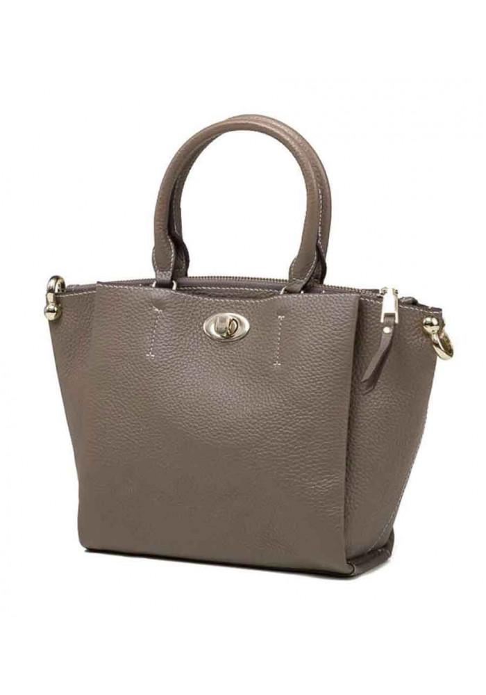 Кожаная женская сумка Olivia 8051G серая