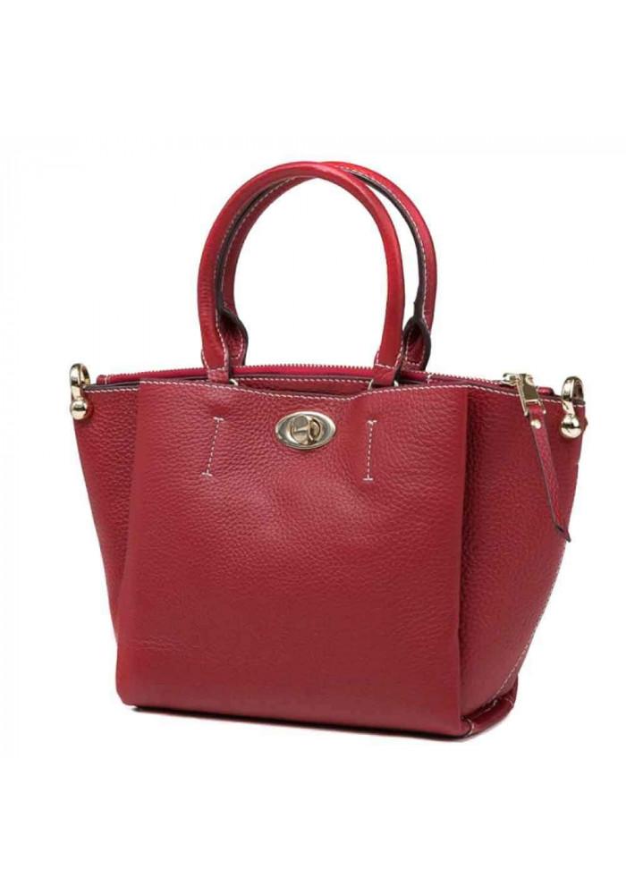 Кожаная женская сумка Olivia 8051R красная