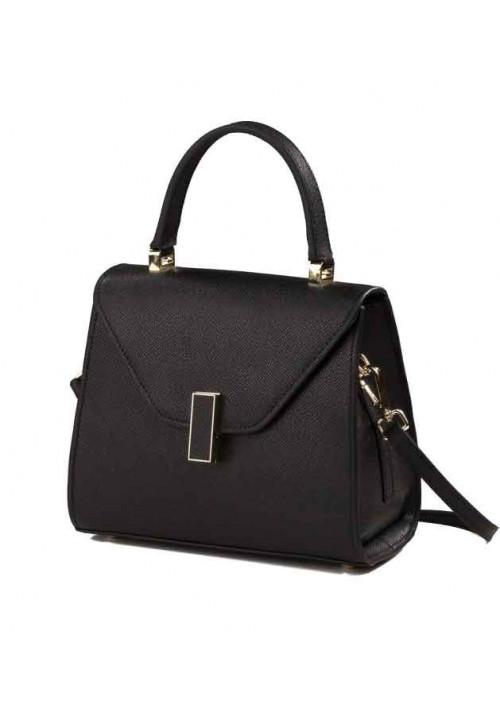 Кожаная женская сумка L.D 96315 черная