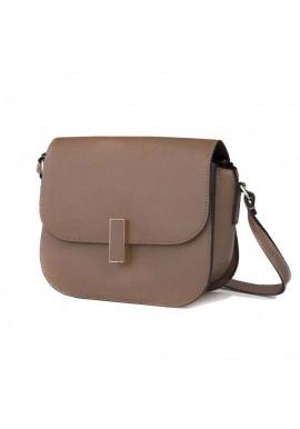 Фото Кожаная женская сумка-клатч L.D 91012 светло-коричневая