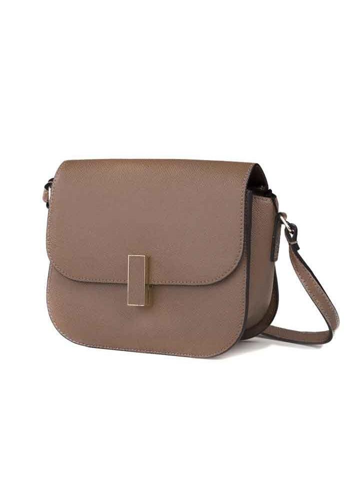 Кожаная женская сумка-клатч L.D 91012 светло-коричневая