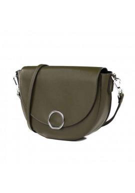 Фото Кожаная женская сумка-клатч L.D 93660 зеленая