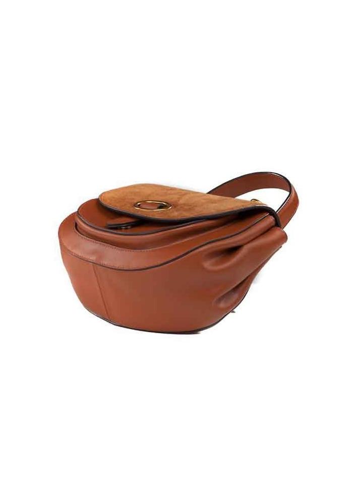 eb81806be29e ... Кожаная женская сумка-клатч L.D 91010 светло-коричневая, фото №4 -  интернет ...