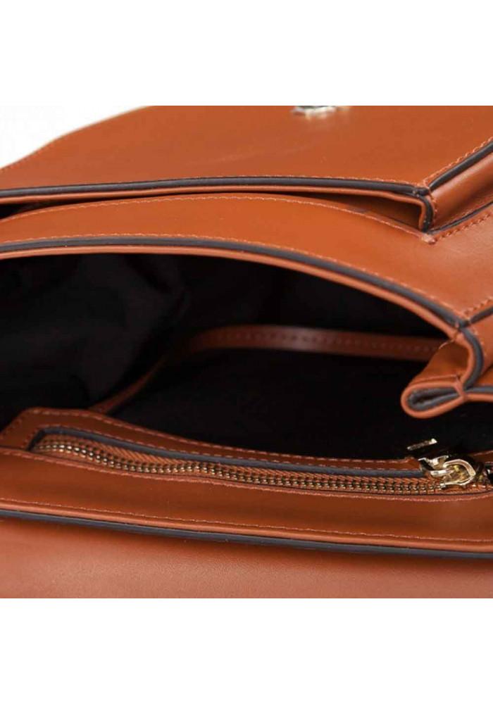 3baaf03f5d55 ... Кожаная женская сумка-клатч L.D 91010 светло-коричневая, фото №5 -  интернет ...