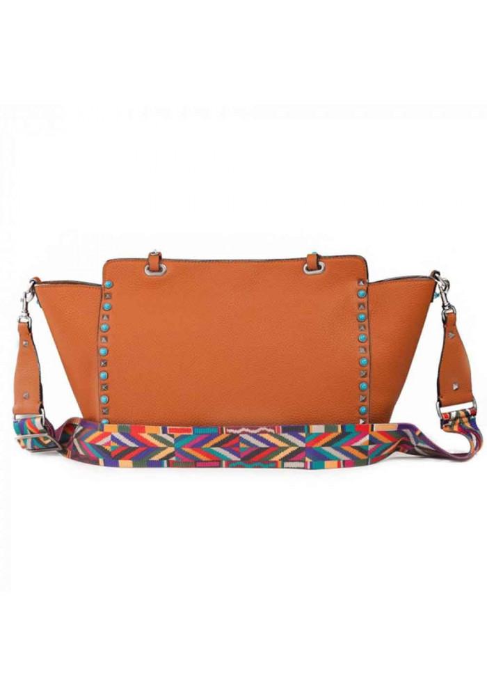 1279fefb5296 ... Кожаная женская сумка L.D 96268 светло-коричневая, фото №2 - интернет  магазин stunner ...