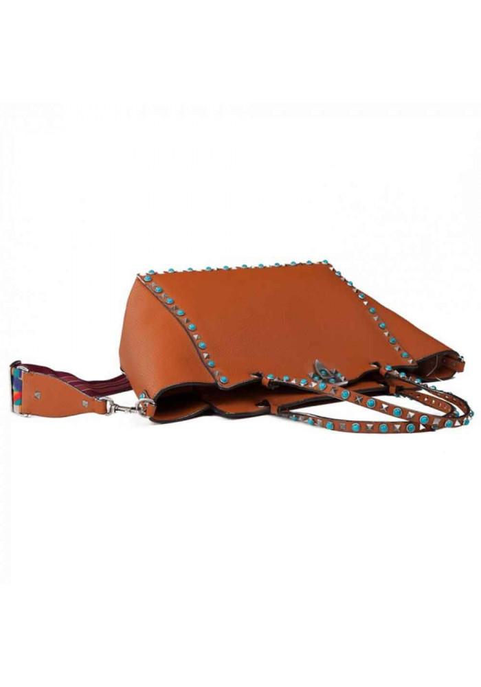 02f13aca18cf ... Кожаная женская сумка L.D 96268 светло-коричневая, фото №3 - интернет  магазин stunner ...
