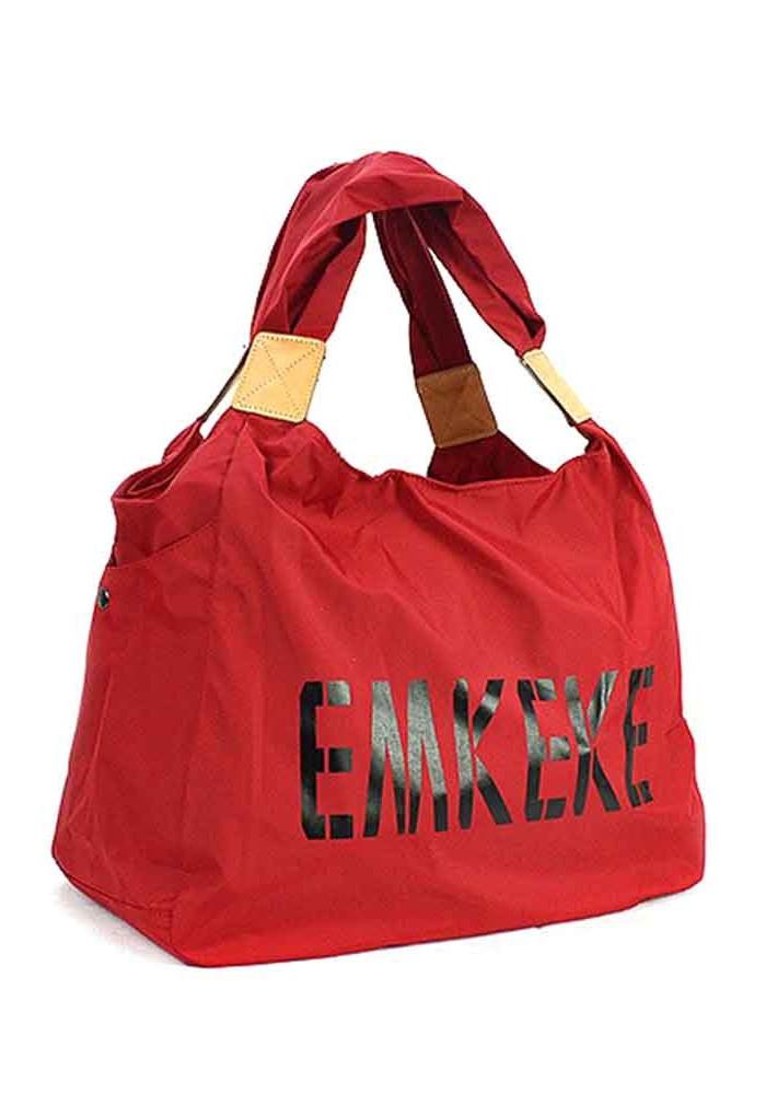 Текстильная женская сумка Emkeke 915 красная