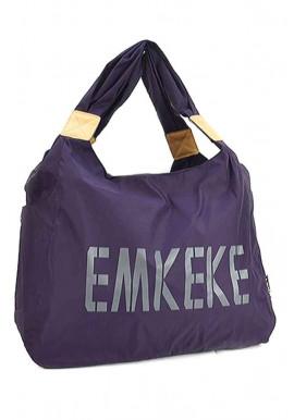 Фото Текстильная женская сумка Emkeke 915 фиолетовая