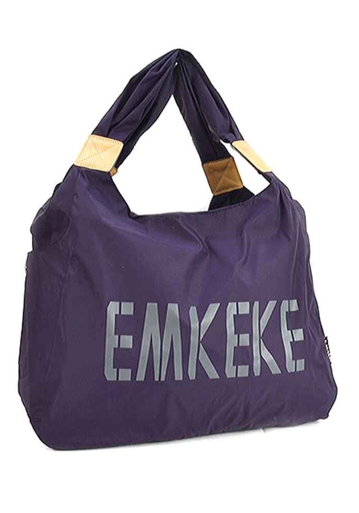 Текстильная женская сумка Emkeke 915 фиолетовая