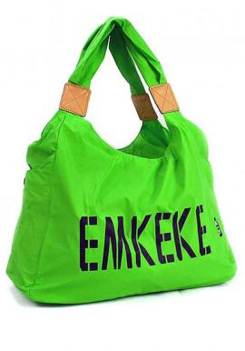 Фото Текстильная женская сумка Emkeke 915 зеленая