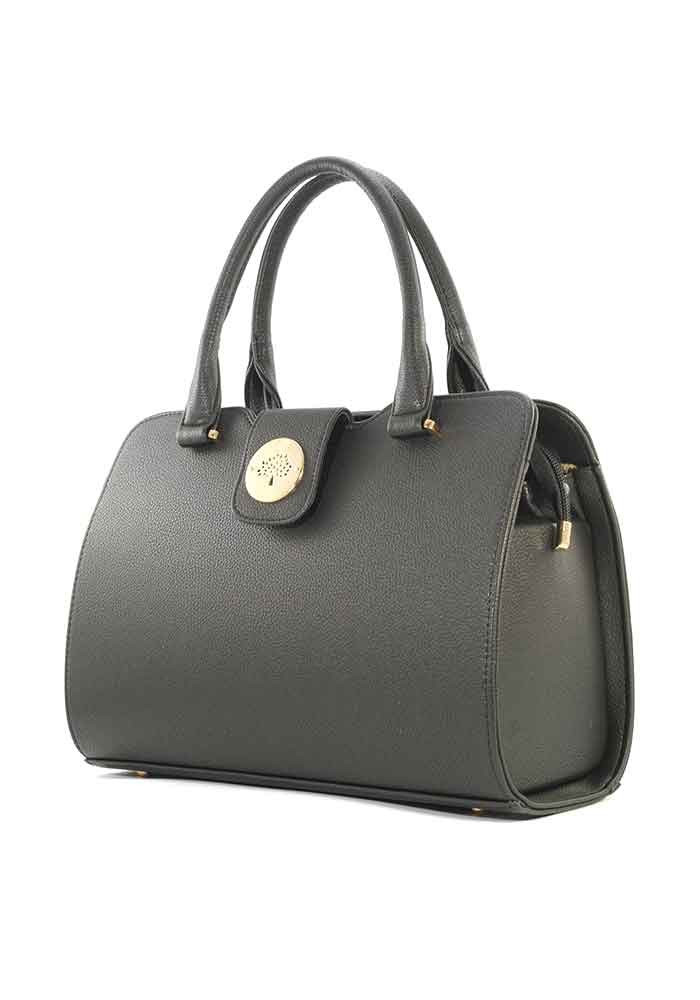 Классическая черная матовая женская сумка серии DKL