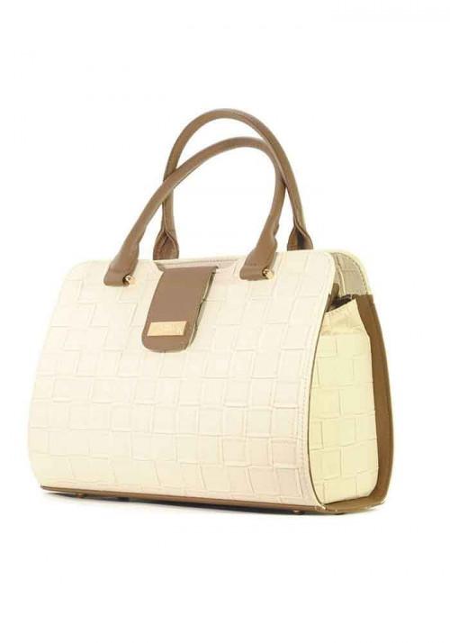Плетеная сумка женская бежевая серии DKL