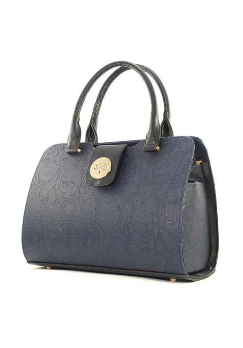Синяя женская сумка серии DKL с узором