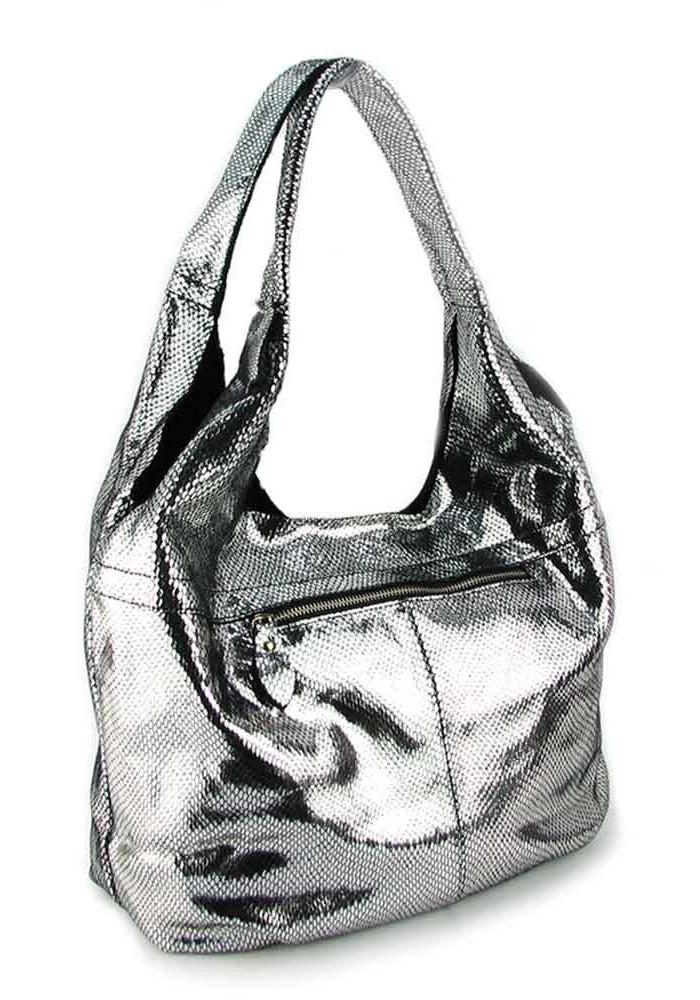 f5ca6cc688c6 ... Женская кожаная сумка 6680 серебристая, фото №2 - интернет магазин  stunner.com.