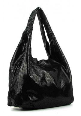 Фото Женская кожаная сумка 6680 черная