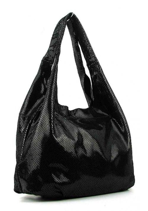 Женская кожаная сумка 6680 черная