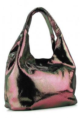 Фото Женская кожаная сумка 6680 коричневая бронза